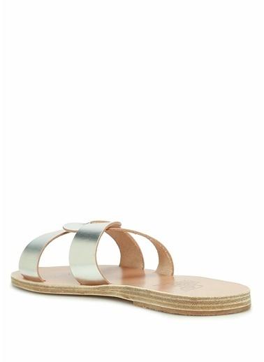Ancient Greek Sandals Terlik Gümüş